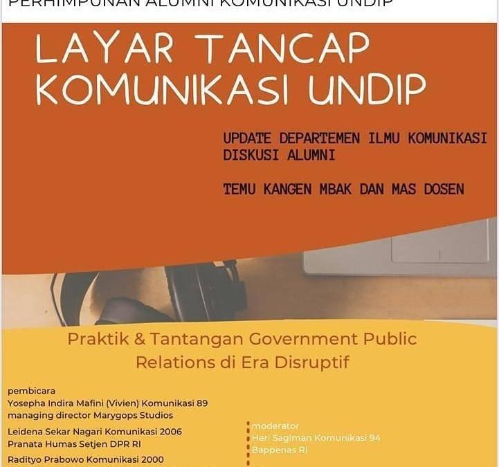 LAYAR TANCAP KOMUNIKASI UNDIP Episode#1 : Diskusi, temu alumni dan dosen, ger-geran bareng