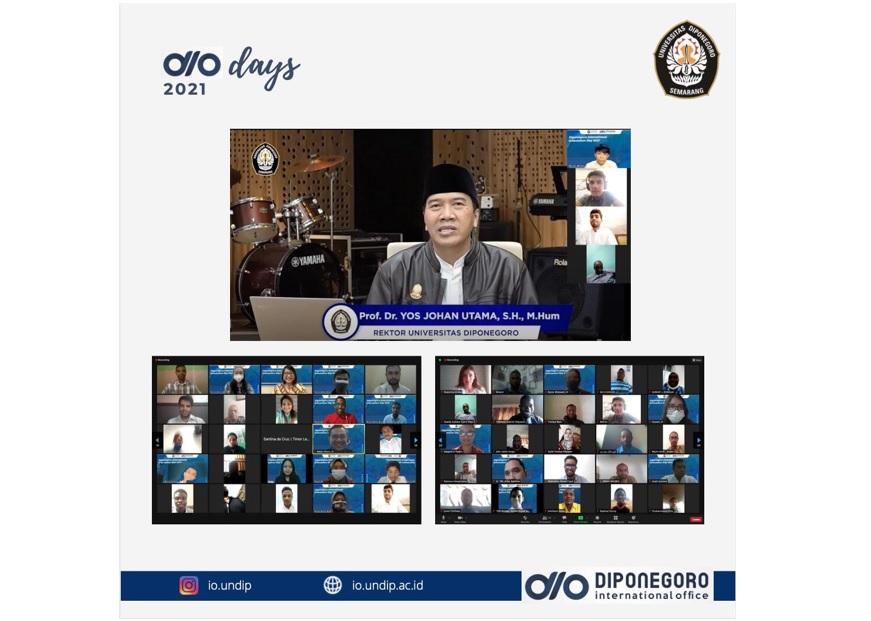 DIO Day 2021: PMB of International Students at Universitas Diponegoro's Environment