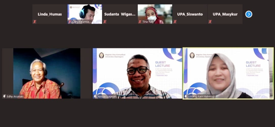 """Master of Communication Science Undip Held A National Webinar """"A Shift From Media Planning To Communications Planning Enter The Super Planner"""""""